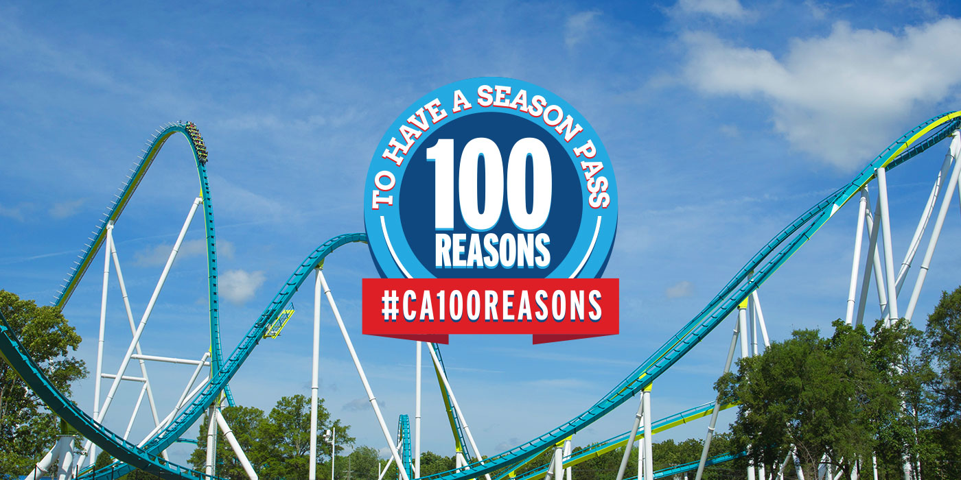100 Reasons to have a Season Pass to Carowinds!