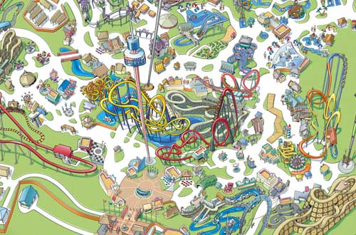 Carowinds Map and Directions