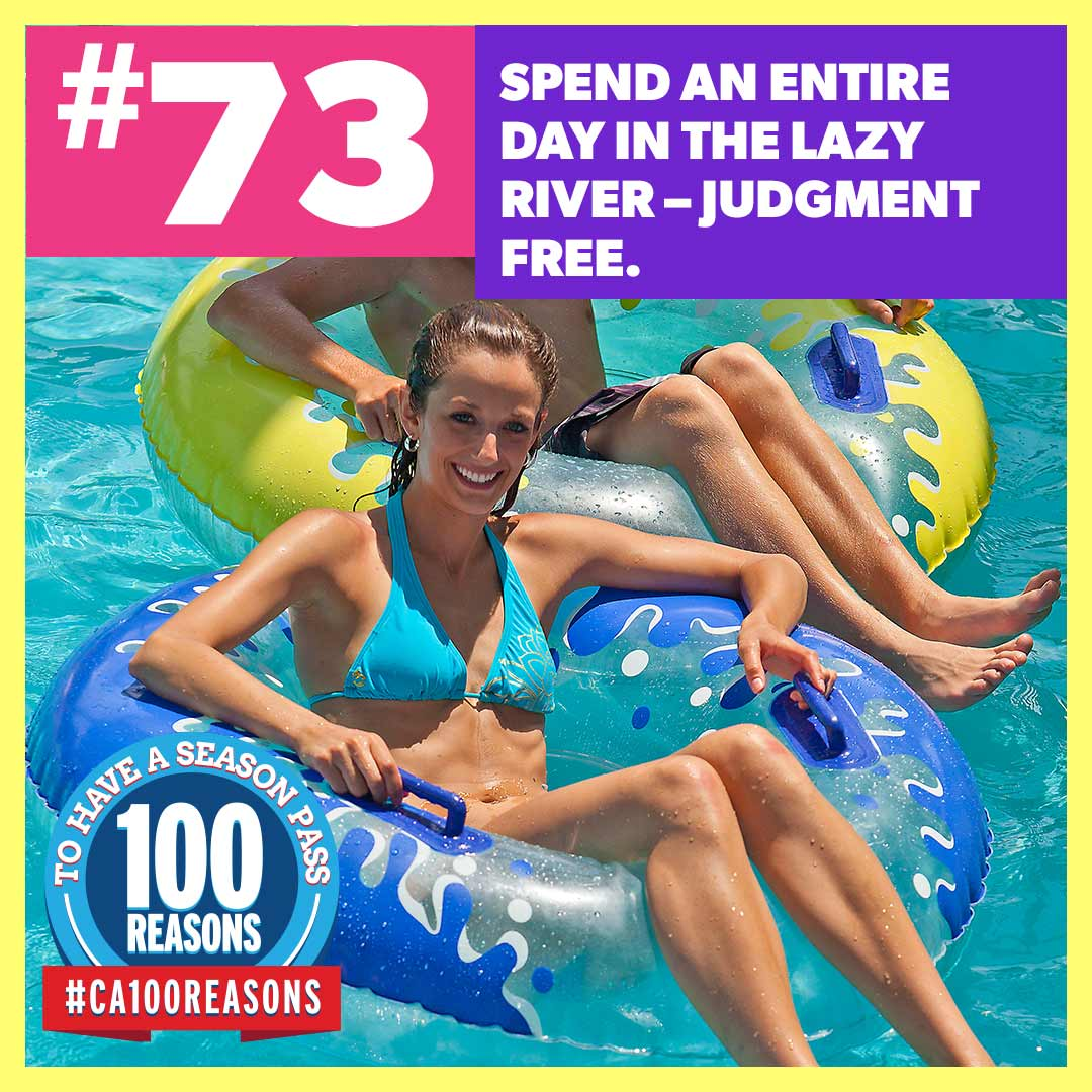 Spend an entire day in the lazy river – judgment free.