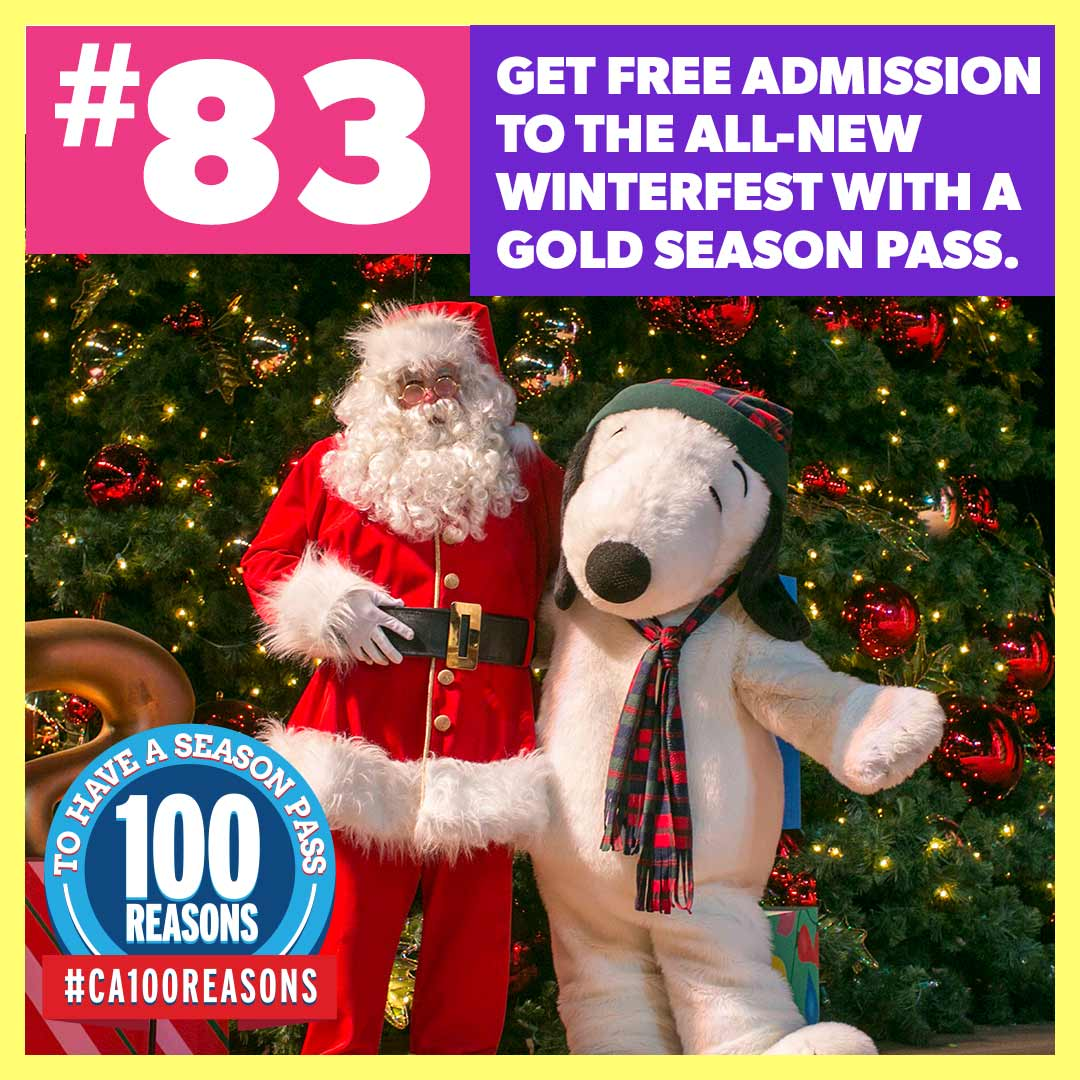 Get free admission to the all-new WinterFest with a Gold Season Pass.