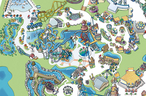 Great America Boomerang Bay Park Map and Directions