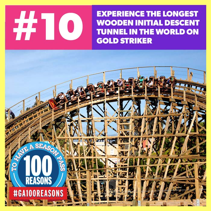 Experience the Longest Wooden Initial Descent Tunnel in the World on Gold Striker