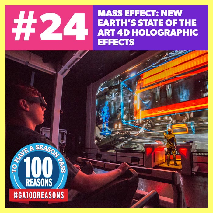 Mass Effect: New Earth's State of the Art 4D Holographic Effects