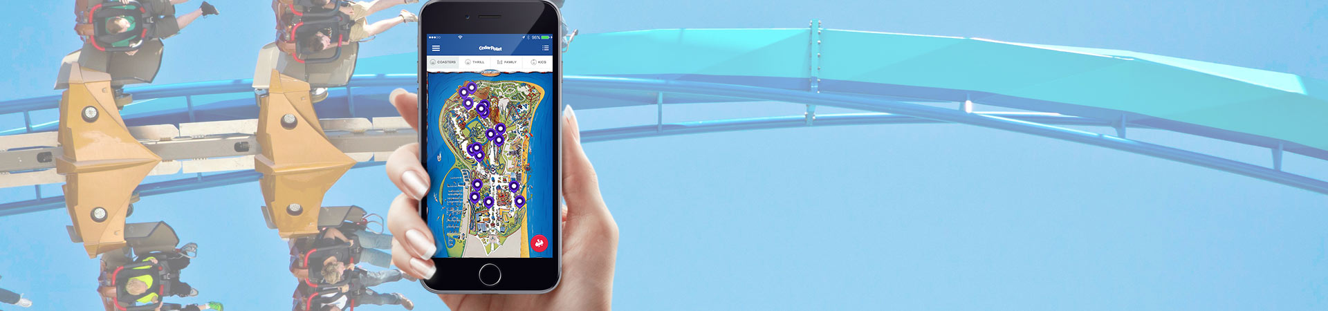The Cedar Point Mobile App offers wait times, show times, special offers and more!
