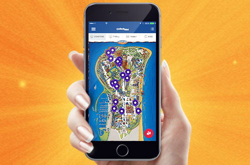 Wait times. Show times. Special offers. Get it all with the Cedar Point Mobile App.