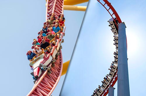 Top Thrill Dragster and Magnum XL-200