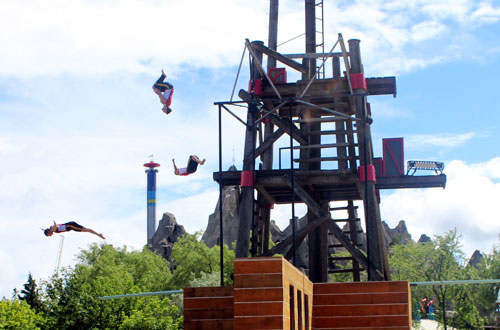 Flying Frontenacs Stunt & Dive Show - Celebration Canada at Canada's Wonderland