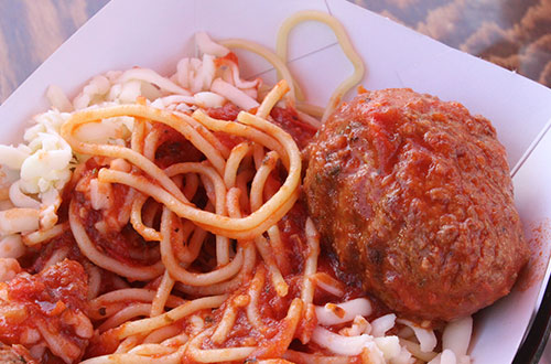 Spaghetti with Meat Balls - Taste of Italy at Canada's Wonderland