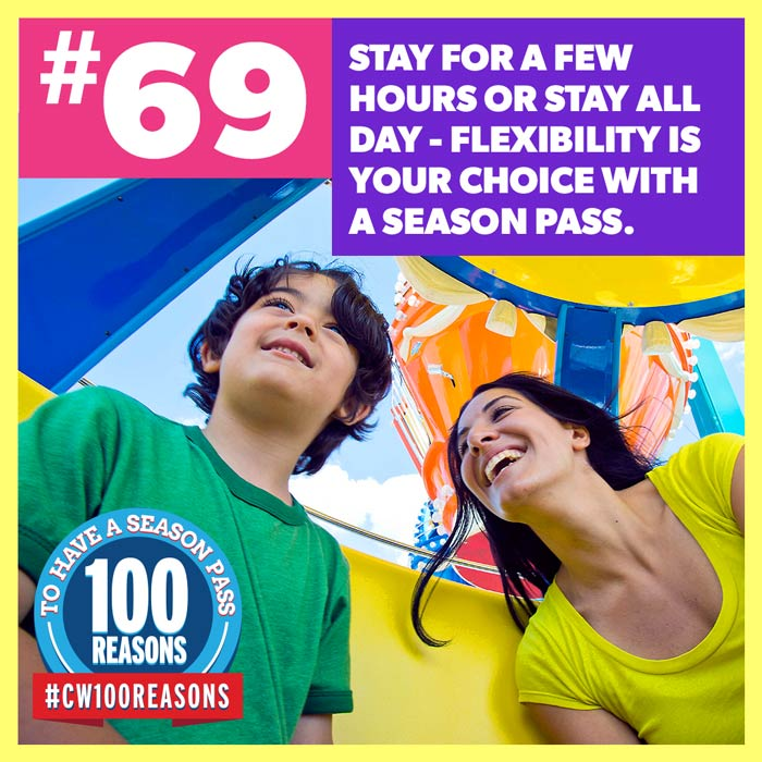 Stay For a Few Hours or Stay All Day - Flexibility is Your Choice with a Season Pass.