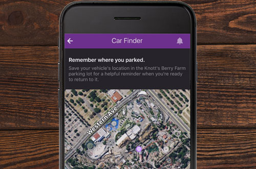 Knott's Berry Farm Mobile App Car Finder