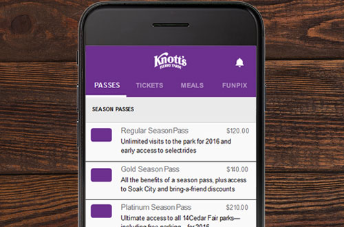 Knott's Berry Farm Mobile App Special Offers