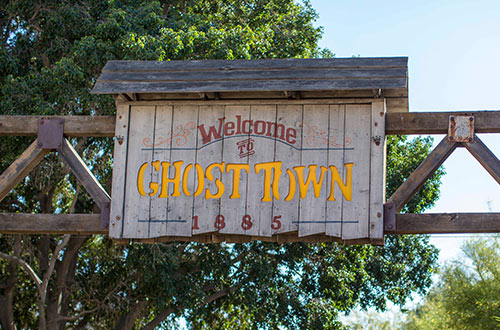 Ghost Town Alive Sign