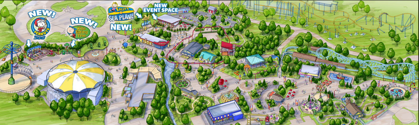 Kings Dominion Planet Snoopy Expansion