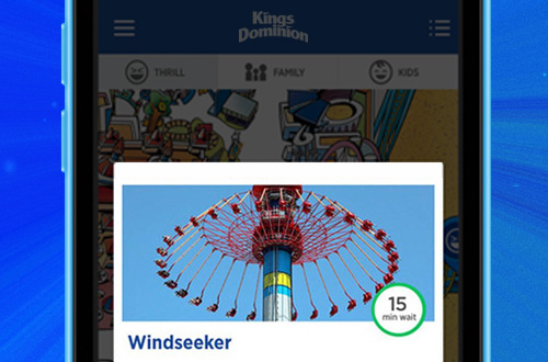 Carowinds Mobile App Wait Times