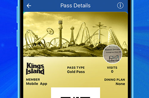 Kings Island Mobile App Digital Season Pass