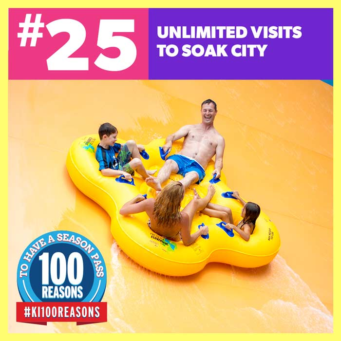 Unlimited visits to Soak City