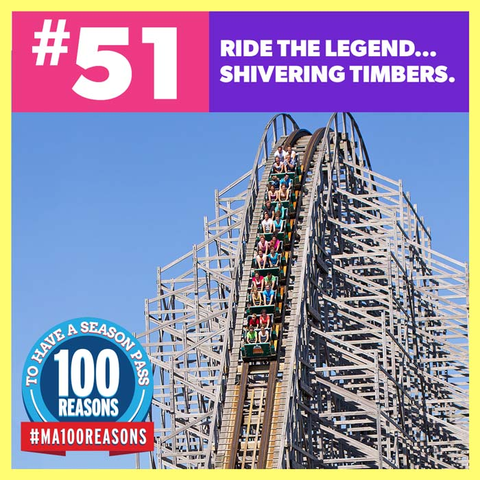 Ride the legend... Shivering Timbers.