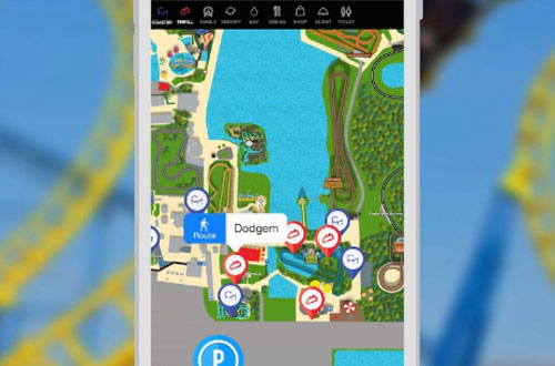 Michigan's Adventure Mobile App Park Map