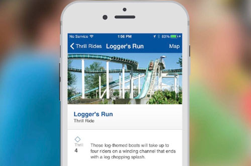 Michigan's Adventure Mobile App Ride Details