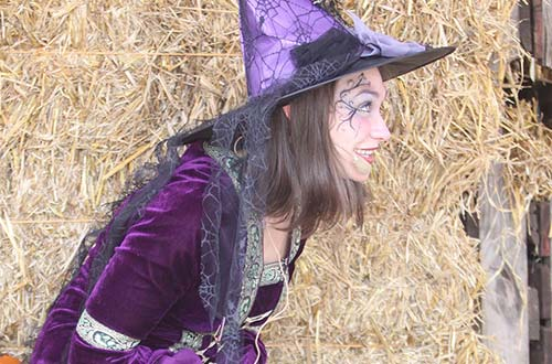 Story-Telling Witch at Valleyfair's Great Pumpkin Fest